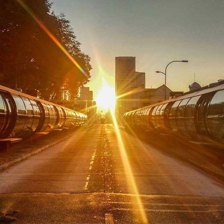 Tubo Curitiba e por do sol