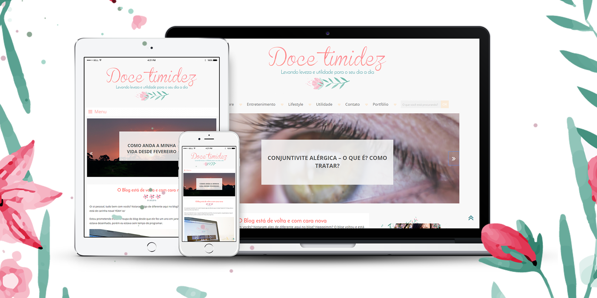 Doce timidez - Design e programação responsiva para wordpress
